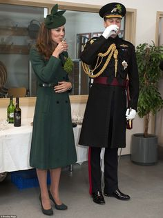 Cheers to that! Kate and William sampled some sherry and Guinness at the St. Patrick's Day Parade