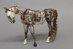 The very interesting patch-work horse sculptures of Aggie Zed combine the mechanical and natural in unsual ways.