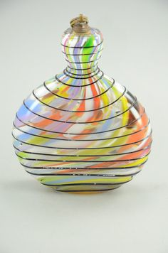 Vintage Handblown Art Glass Perfume Bottle