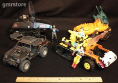 GI Joe Cobra Commander 1980's Vehicles HISS Tank Stinger Jeep Tiger Cat (BR)