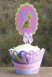 We loved designing these Tinker Bell cupcake wrappers and toppers....they are perfect for young and old!