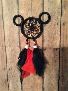 Mickey and Minnie Mouse Dreamcatcher for your by OliviaSueDesigns