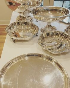 "Stephen Andrew Jones on Instagram: ""'Tis the season to polish the silver 😍💅🏻 #christmas #holiday #hanukkah #usingthesilver #useyoursilver #collecting"" Andrew Jones, Tis The Season, Christmas Holiday, Punch Bowls, Hanukkah, Antique Silver, Polish, Seasons, Antiques"