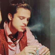 Sebastian Stan smoking... and this is why smoking can look sexy