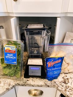 Epstein-Barr Virus by popular Utah lifestyle blog, A Slice of Style: image of organic baby spinach, Wymans wild blueberries, bananas, and a blendtec blender. Energy Smoothies, Celery Juice, Wild Blueberries, Eating Organic, Baby Spinach, Organic Baby, Fruits And Veggies, Blog Tips, Joyful