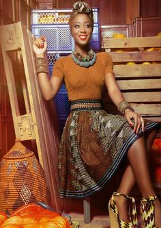 latest african fashion look 743 African Inspired Fashion, African Print Fashion, Africa Fashion, Ethnic Fashion, Look Fashion, Fashion Prints, African Prints, Fashion Styles, Fashion Hacks