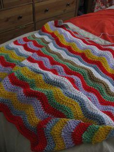 Soft Waves Ripple Crochet Blanket by twistedstrand, via Flickr