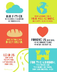 The Lords prayer for children free printable poster
