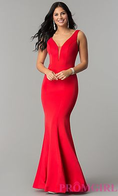 Low-Cut Deep V-Neck Prom Dresses - PromGirl - PromGirl 717443952