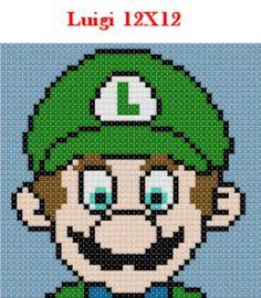 Luigi latch hook pattern