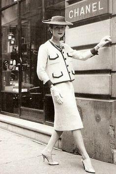 Classic Chanel suit.