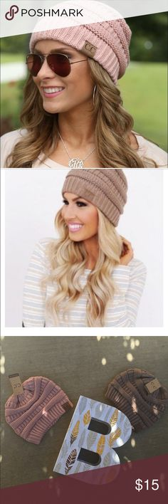 ❄️C.C. Chunky Knit Beanies❄️ TIS' THE BEANIE SEASON!!!! The chunky knit style is really urban and cute! *Colors: Rose and Taupe please indicate the color. Accessories Hats