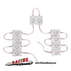 12,02€ - ENVÍO SIEMPRE GRATUITO - Juego de 10 Luces Modelo 2# LED 12V para Interior Coche Furgoneta Caravana SPRINTER DUCATO TRANSIT - TUTIENDARACING