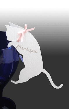 Gatito ガティト(猫の席札orサンキューカード) Cat Wedding, Wedding Paper, Wedding Cards, Origami, Gift Wraping, Easter Table Settings, Book Sculpture, Paper Crafts, Diy Crafts