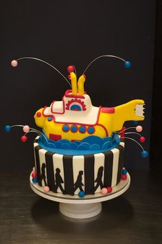 Beatles Yellow Submarine Cake by Studio Cake