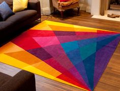 Rainbow Rug - electric - rugs - Sonya Winner Vibrant Contemporary Rugs... Without Green???!!! <3 <3 <3