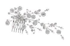           .   Haarkam 012     Parchtige bruidskam bezte met bloemvormige kristallen. De kam is 15cm breed en 9cm hoog.  wedding, bride, bruid, bruiloft, bruidssieraden, bruidskam, haarkam, bruidskapsel