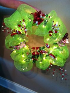 Geo Mesh Christmas Wreath