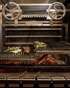 Boston's Trophy Grills - kirkland tap and trotter grill - Grill Restaurant, Restaurant Kitchen, Restaurant Design, Wood Grill, Fire Grill, Bbq Grill, Outdoor Oven, Outdoor Cooking, Argentina Grill