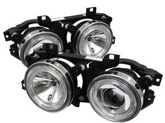 ( Spyder ) BMW E34 5-Series 89-94 / BMW E32 7-Series 88-92 Projector Headlights - WILL NOT FIT 750 - LED Halo - Chrome - High H1 (Included) - Low H1 (Included)