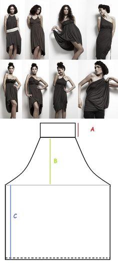 Multivestido Limitless dress de Emami,  formas de usarlo con Patrón
