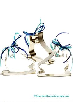 """A Favorite of Many! Skate Cookie Cutter Set Perfect for Birthday Parties and Coach Gifts One large 3.75"""" Skate Cookie Cutter with a 1"""" Mini Skate Cookie Cutter Also Perfect for stain glass cookies and the mini also makes a great pie crust edge"""