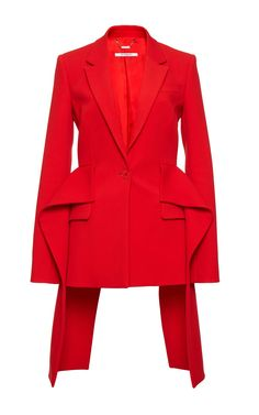 Crepe Wool Ruffled Jacket by GIVENCHY for Preorder on Moda Operandi