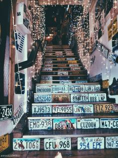License Plate Stairs