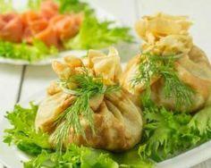 Aumônières de crêpes au saumon et au fromage frais 0%