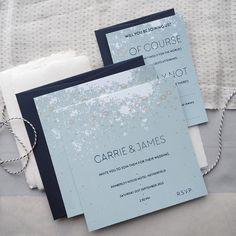 - Spring blue - Inspired by the seas sparkling energy our Genevieve #weddingstationery suite feels perfect this morning.