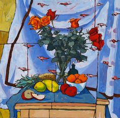 Roses and Fruit with Bird Cloth