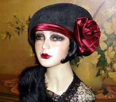 Furfelt Edwardian/Flapper hat