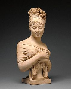 Bust of Madame Recamier, by Joseph Chinard, French, about 1801-1802   Terracotta. The Getty Center.