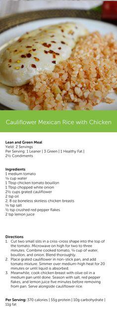 Cauliflower Mexican Rice with Chicken