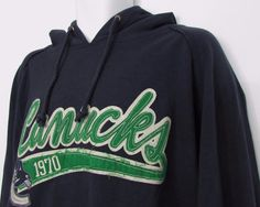 Men Vancouver Canucks Old Time Hockey Reebok Sweatshirt Hoodie sz Large NEW NWT #Reebok #VancouverCanucks