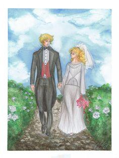 "Albert&Candy. Wedding. ""Candy Candy Final Story""by Keiko Nagita(Kyoko Mizuki). Outfits: late '20s. https://www.facebook.com/silviagalassodrawings http://pixiv.me/silviagalasso http://silviagalasso.deviantart.com/gallery/  #candycandy #KyokoMizuki #manga #anime #anohito #silviagalasso #fanart #fashiondesign #fashionstyling #historicaldress #historicalcostume #1920 #1930 #キャンディキャンディ #アニメ #漫画 #イラストレーター"