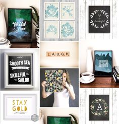 Printable posters as gifts - all you need is a printer.