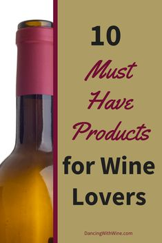 10 great and unique wine products that you must see if you enjoy wine. I know I want to buy them all!