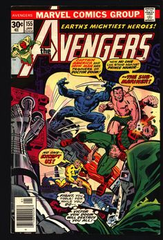 AVENGERS #155 George Perez Jack Kirby Sub-Mariner Iron Man Captain America Scarlet Witch Beast Wonder Man Whizzer Vs Doctor Doom