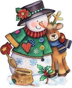 Snowman and Reindeer Christmas Graphics, Christmas Clipart, Christmas Printables, Christmas Pictures, Christmas Snowman, Winter Christmas, Christmas Crafts, Frosty The Snowmen, Cute Snowman