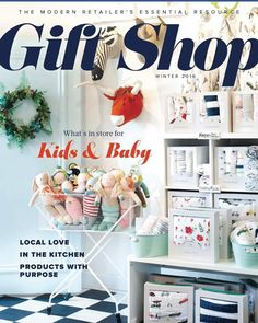 "We are thrilled to be featured in Gift Shop Magazine's Winter 2016 edition! Editor Julie Mccallum does a beautiful job of connecting a worldwide community of small shops and sharing ideas and inspiration. She says ""Check out our Featured Gift Shop The Childrens Hour in Salt Lake City. Owner Diane Etherington has been in business for 31 years and has created a vibrant store that has grown from a childrens bookstore to a unique boutique for women and children."" Pick up a copy! Or next time you…"