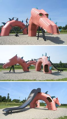15 Amazing, Unique And Creative Playgrounds // A Pink Dragon