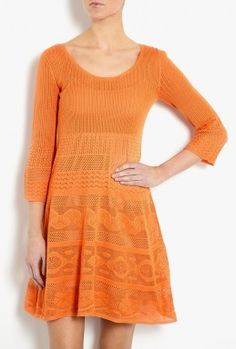 Lace Knit Fit And Flare Dress by Philosophy di Alberta Ferre