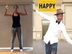 Pharrell Williams 'HAPPY' Dance Tutorial Pharrell Williams Happy, Dance Exercise, Exercise Plans, Health Tips For Women, Happy Dance, Im Happy, Dancing, Fitness, Exercises
