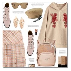 """""""Too Cool for School"""" by defivirda ❤ liked on Polyvore featuring Miu Miu, Givenchy, Giuseppe Zanotti, Illamasqua, Elizabeth Arden and Bobbi Brown Cosmetics"""
