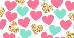 wallpaper | lockscreen | papel de parede | plano de fundo | background | coração | corações | heart | hearts | pink | gold | Moja pierwsza tapeta | Pinterest |…