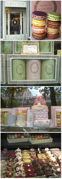 Laduree Tea House, Champs Elysses, Paris - Best pastries on the planet, especially MACARONS!!!