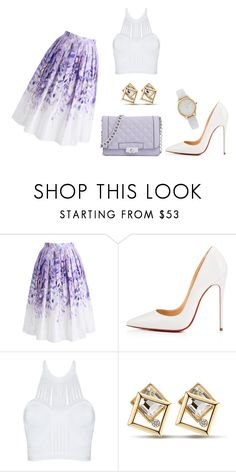 """""""Untitled #386"""" by chilosa3325 on Polyvore featuring Chicwish, Christian Louboutin and Vivani"""