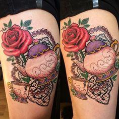 Beauty and the beast tattoo .