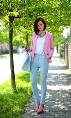 Romwe  Pink Lovely Girly Blazer